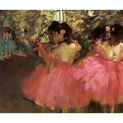 Dancers in Pink by Edgar Degas - Art gallery oil painting reproductions