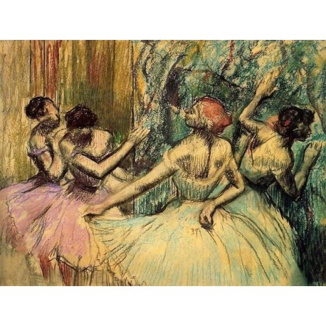 Dancers in the Wings by Edgar Degas - Art gallery oil painting reproductions