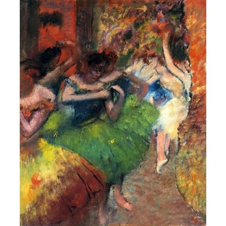 Dancers in the Wings II by Edgar Degas - Art gallery oil painting reproductions