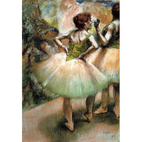Dancers - Pink and Green I by Edgar Degas - Art gallery oil painting reproductions