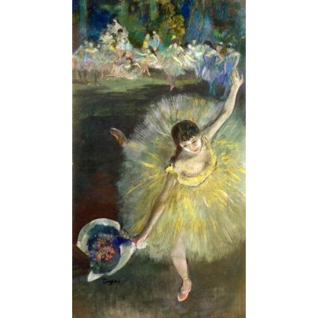 End of an Arabesque by Edgar Degas - Art gallery oil painting reproductions