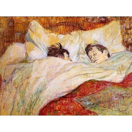 In Bed by Edgar Degas - Art gallery oil painting reproductions