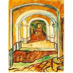 Corridor in the Asylum by Vincent Van Gogh - Art gallery oil painting reproductions