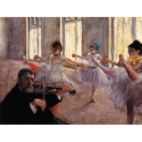Rehearsal by Edgar Degas - Art gallery oil painting reproductions