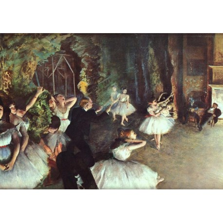 Rehearsal on the Stage by Edgar Degas - Art gallery oil painting reproductions