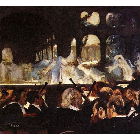 The Ballet Scene by Edgar Degas - Art gallery oil painting reproductions