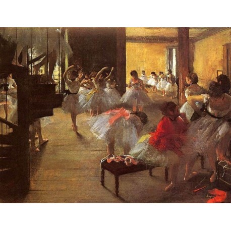 The Dance Class by Edgar Degas - Art gallery oil painting reproductions