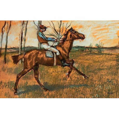The Jockey by Edgar Degas - Art gallery oil painting reproductions