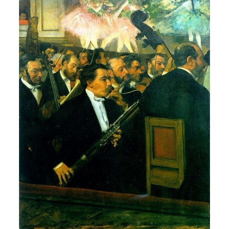 The Orchestra of the Opera by Edgar Degas - Art gallery oil painting reproductions