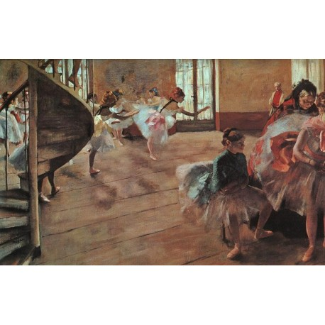 The Rehearsal by Edgar Degas - Art gallery oil painting reproductions