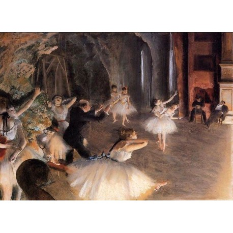 The Rehearsal on Stage by Edgar Degas - Art gallery oil painting reproductions