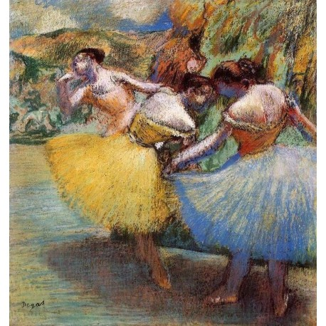 Three Dancers II by Edgar Degas - Art gallery oil painting reproductions