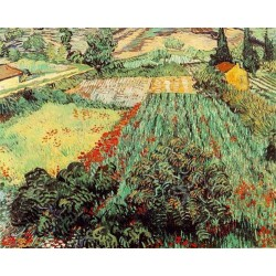 Field with Poppies by Vincent Van Gogh - Art gallery oil painting reproductions