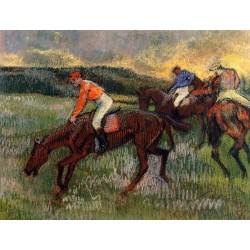 Three Jockeys by Edgar Degas - Art gallery oil painting reproductions