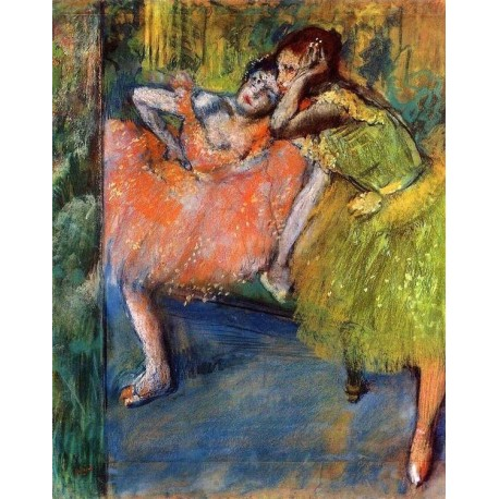 Two Dancers in the Foyer by Edgar Degas - Art gallery oil painting reproductions