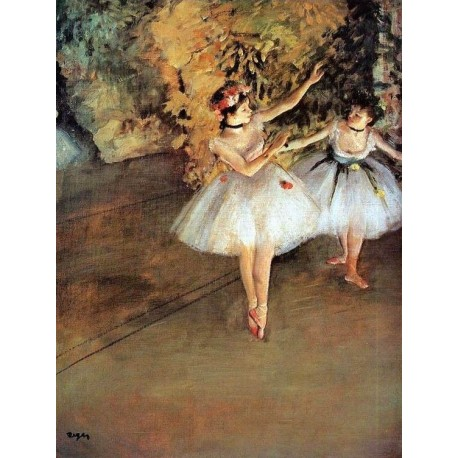 Two Dancers on a Stage by Edgar Degas - Art gallery oil painting reproductions