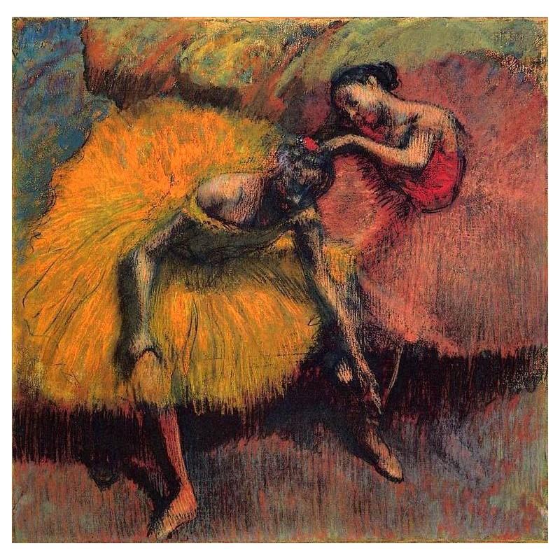 Resultado de imagem para Two Dancers in Yellow and Pink, Degas