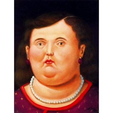 Cabeza By Fernando Botero - Art gallery oil painting reproductions