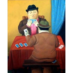 Card Players By Fernando Botero - Art gallery oil painting reproductions