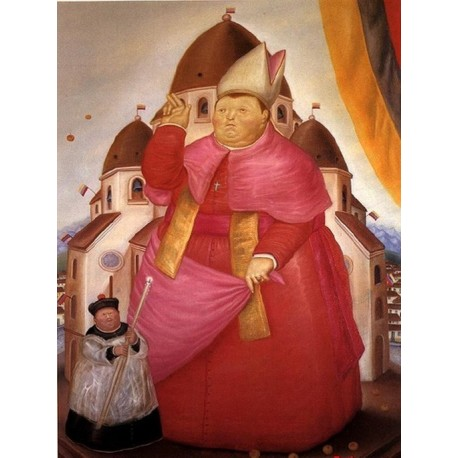 Cardinal By Fernando Botero - Art gallery oil painting reproductions