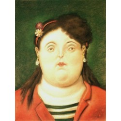 Colombiana By Fernando Botero - Art gallery oil painting reproductions