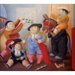 Cuadrilla de Enanos Toreros By Fernando Botero - Art gallery oil painting reproductions