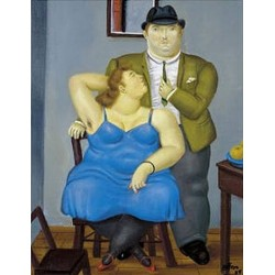 Couple By Fernando Botero - Art gallery oil painting reproductions