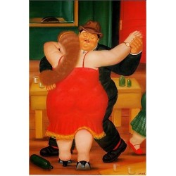 Dancers 1982 By Fernando Botero- Art gallery oil painting reproductions