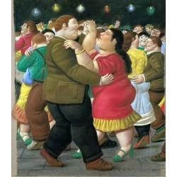 Dancers 2002 By Fernando Botero - Art gallery oil painting reproductions