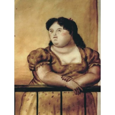 El balcon By Fernando Botero - Art gallery oil painting reproductions