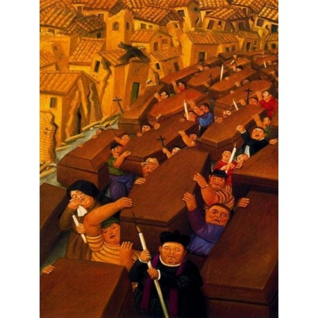 El desfile By Fernando Botero - Art gallery oil painting reproductions