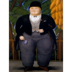 El Embajador Ingles By Fernando Botero- Art gallery oil painting reproductions