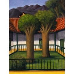 El patio By Fernando Botero - Art gallery oil painting reproductions