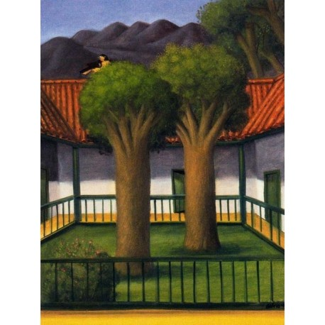 El patio By Fernando Botero - Art gallery oil painting reproductions