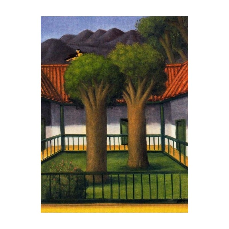 El Patio By Fernando Botero Fine Art Oil Painting Reproductions - Patio painting