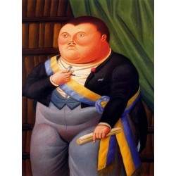 El Presidente 2 By Fernando Botero - Art gallery oil painting reproductions