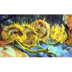 Four Cut Sunflowers by Vincent Van Gogh - Art gallery oil painting reproductions