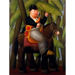 El Presidente By Fernando Botero - Art gallery oil painting reproductions