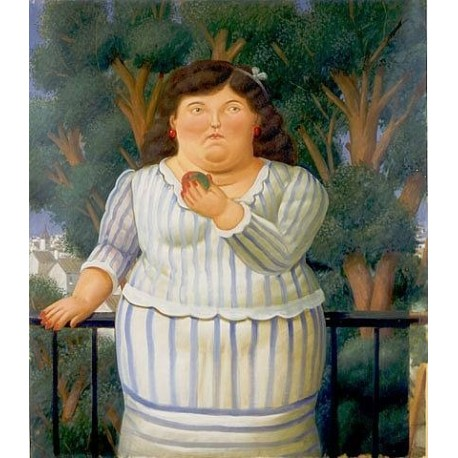 En El Balcon By Fernando Botero - Art gallery oil painting reproductions