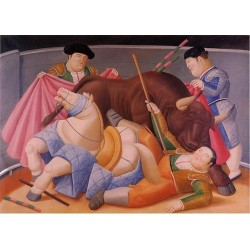 El quite 1988 By Fernando Botero- Art gallery oil painting reproductions