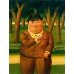 En el parque By Fernando Botero - Art gallery oil painting reproductions