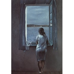 Figure at a Window By Fernando Botero - Art gallery oil painting reproductions