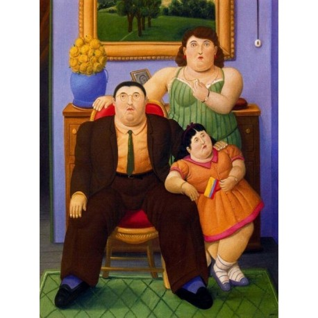 Familia Colombiana By Fernando Botero - Art gallery oil painting reproductions