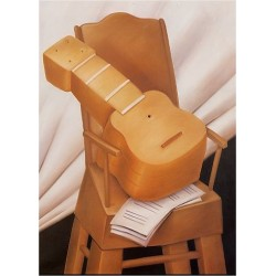 Guitar and Chair 1983 By Fernando Botero - Art gallery oil painting reproductions