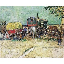 Gypsy Caravan by Vincent Van Gogh - Art gallery oil painting reproductions