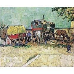 Gypsy Caravan by Vincent Van Gogh - Art gallery oil painting reproductions