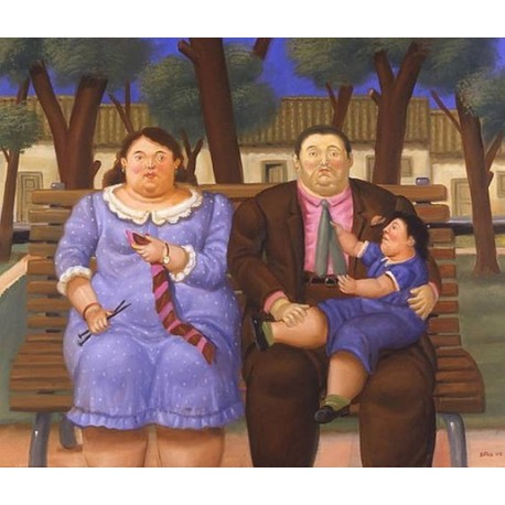 In The Park By Fernando Botero - Art gallery oil painting reproductions