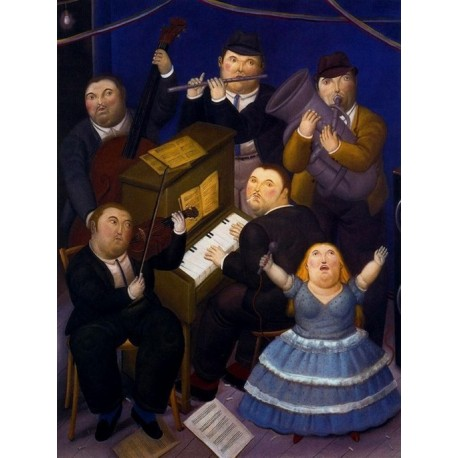 La orquesta By Fernando Botero - Art gallery oil painting reproductions