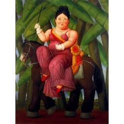 La primera dama By Fernando Botero - Art gallery oil painting reproductions