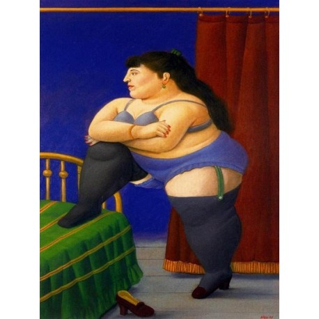La recomara By Fernando Botero - Art gallery oil painting reproductions